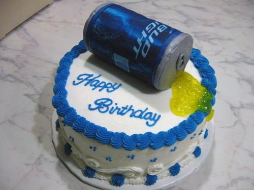 Happy birthday craft beer cake - photo#19