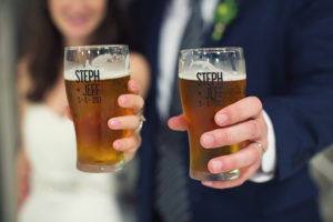 Brewery Wedding glasses